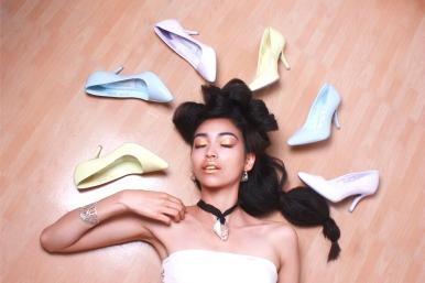 Collar + Brazalete: Verónica María / Zapatos: Andrea