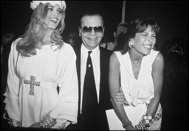 Karl Lagerfeld y Claudia Schiffer